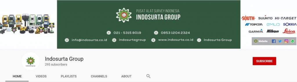 Channel Youtube Indosurta Group