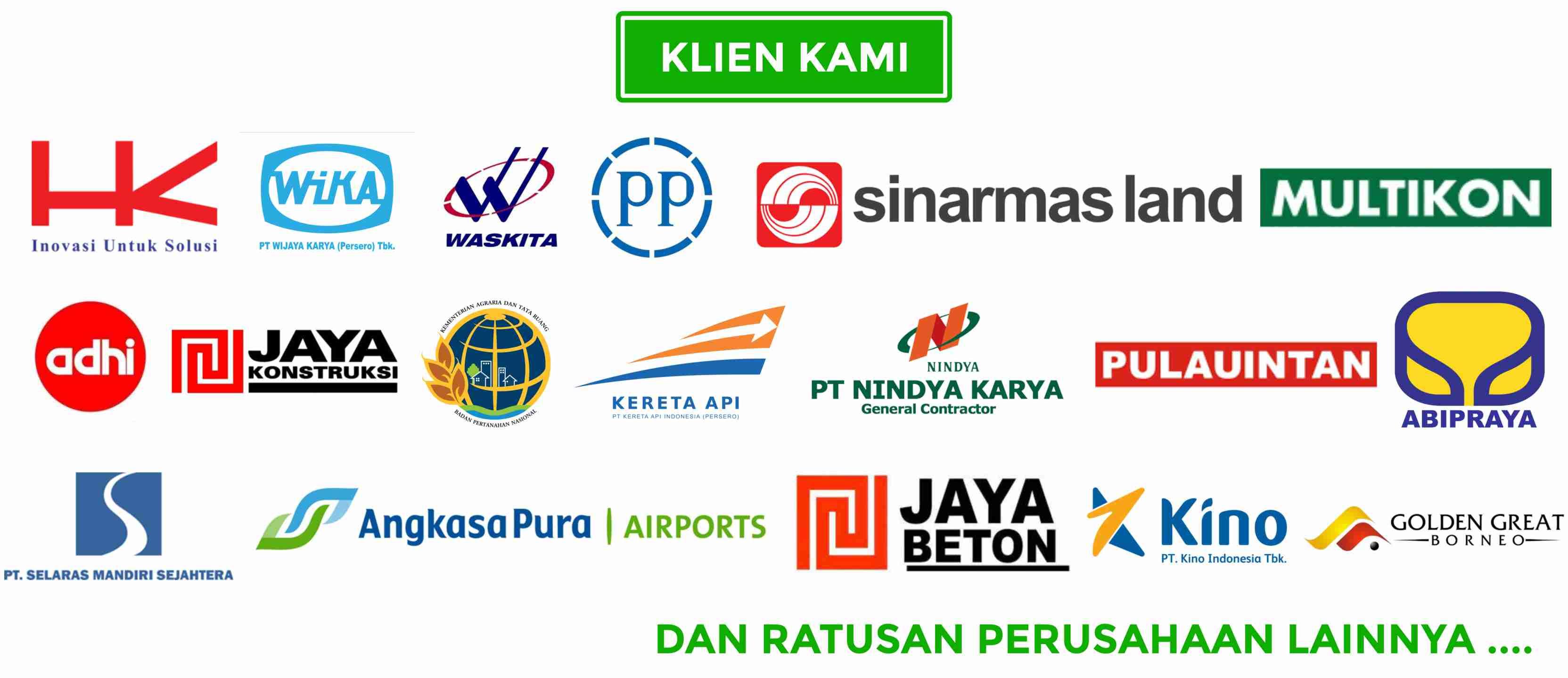 Klien Indosurta Group sudah bekerja sama dengan perusahaan kontraktor dan indosurta group